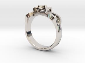 Designer Ring #1 in Rhodium Plated Brass: 7 / 54
