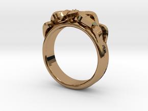 Designer Ring #3 in Polished Brass: 6 / 51.5
