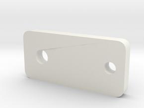Maruzen M1100 Connection Plate in White Natural Versatile Plastic