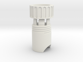 Twist Collet Assy in White Natural Versatile Plastic