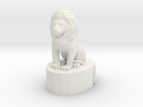 Lion King  in White Natural Versatile Plastic