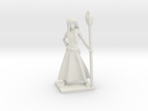 Fantasy Figures 02 - Druid in White Natural Versatile Plastic