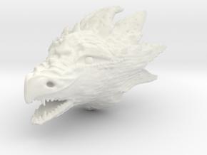 Dragonhead in White Natural Versatile Plastic