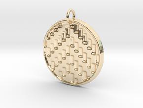 Herringbone Pendant in 14K Yellow Gold