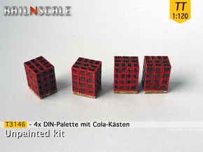 4x DIN-Palette mit Cola-kästen (TT 1:120) in Frosted Ultra Detail