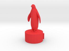 Penquin Pawn in Red Processed Versatile Plastic