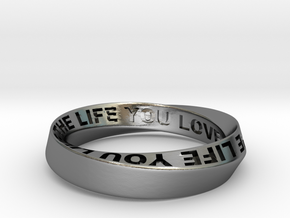 Live The Life You Love - Mobius Ring 4.5mm band in Polished Silver: 6.5 / 52.75