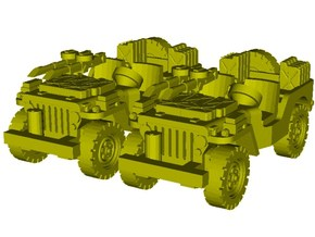 1/100 scale WWII Jeep Willys 4x4 SAS vehicles x 2 in Smooth Fine Detail Plastic