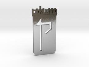Custom Logo Lapel Pin in Polished Silver