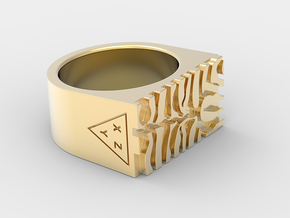 TIGER PRINT in 18k Gold Plated Brass: 7 / 54