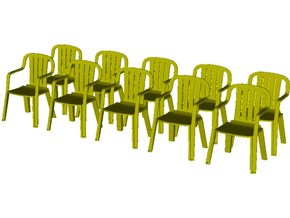 1/35 scale plastic chairs set x 10 in Smooth Fine Detail Plastic