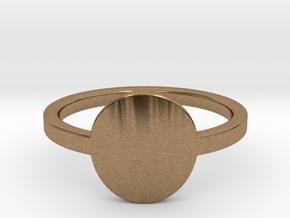 Small Circle Midi Ring in Natural Brass