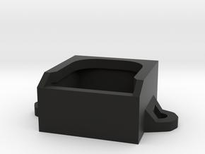 Micro Fan Mount 20x20x10mm in Black Natural Versatile Plastic