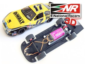 3D Chassis - SCX Ford FUSION 2006 (Combo) in Black Strong & Flexible