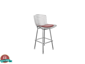1:6 Miniature Bertoia Barstool - Harry Bertoia in White Natural Versatile Plastic