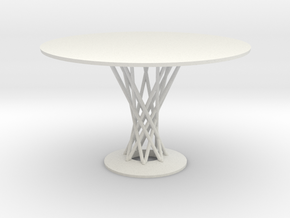 1:12 Miniature Cyclone Dining Table - Isamu Noguch in White Strong & Flexible