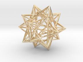Ten Tetrahedra in 14k Gold Plated Brass