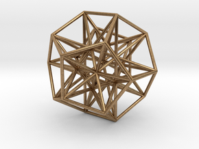 Polyhedron 666 in Natural Brass