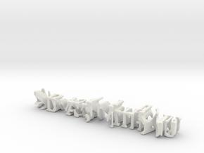 3dWordFlip: AlwaysWithYou/AlwaysWithMe in White Natural Versatile Plastic