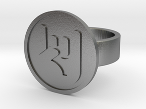Rock On Ring in Natural Silver: 8 / 56.75