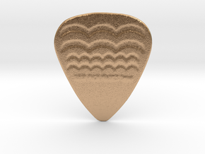 Raw Pick Waves Guitar Pick 1mm in Natural Bronze