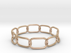 Chained Bracelet 68 in 14k Rose Gold Plated