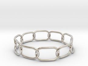 Chained Bracelet 70 in Platinum