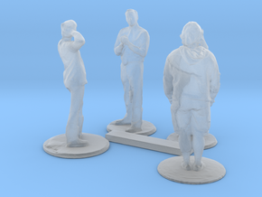 HO Scale People Standing in Smooth Fine Detail Plastic