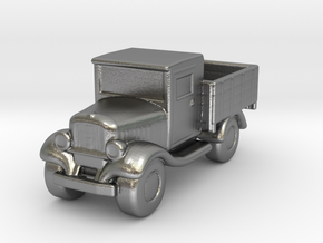 Old Pickup Truck Game Token in Natural Silver