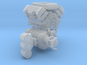 Brodix 1/25 509 Engine 14-71 Blower in Frosted Ultra Detail