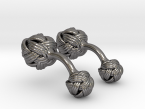 Algerian Knot Cufflink in Polished Nickel Steel