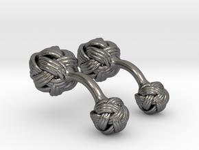 Algerian Knot Cufflink in Polished Nickel Steel