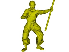 1/15 scale Shaolin Kung Fu monk figure B in Smooth Fine Detail Plastic