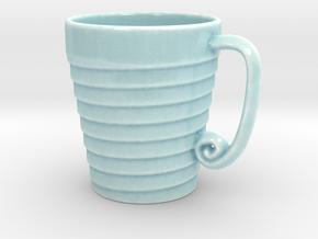 Spiral Mug in Gloss Celadon Green Porcelain