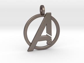 Avengers Keychain in Polished Bronzed Silver Steel