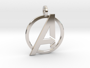 Avengers Keychain in Rhodium Plated Brass