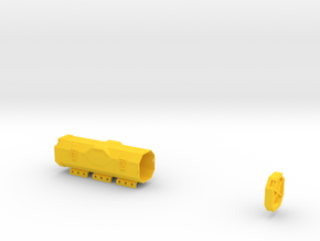Zylon Battery Box in Yellow Processed Versatile Plastic
