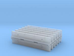 20' CalTrans Type K-Rail Concrete Barrier (12) in Smooth Fine Detail Plastic
