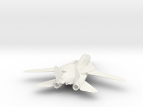 F14 Tomcat Model in White Natural Versatile Plastic