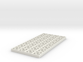 1/25 scale Breezeblocks style A, 4x8 panel in White Natural Versatile Plastic