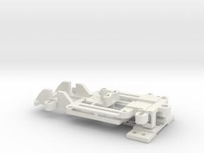 1/43 Universal Slotcar Chassis - V2 in White Natural Versatile Plastic