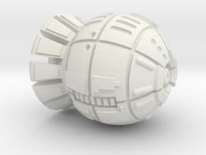 Terran (TFN) Frigate in White Natural Versatile Plastic