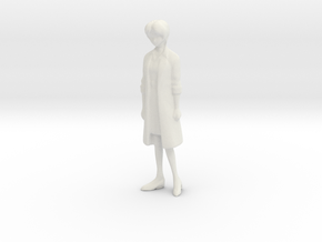 1/18 Scientist Dr. Yui Ikari Portrait in White Natural Versatile Plastic