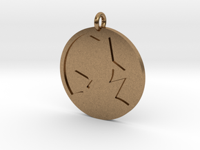 Mystery Man Pendant in Natural Brass