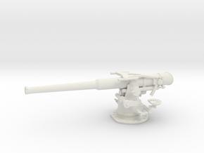 1/32 USN 4 inch 50 (10.2 cm) Sub Deck Gun in White Natural Versatile Plastic