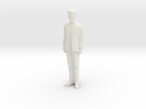 1/43 Man in Suit in White Natural Versatile Plastic