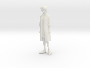 1/43 Scientific Researcher in White Natural Versatile Plastic