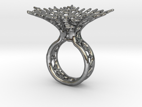 Hyphae Ring in Polished Silver: 5 / 49