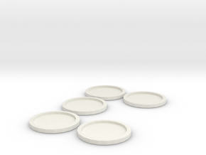 25mm to 32mm base adaptor in White Natural Versatile Plastic