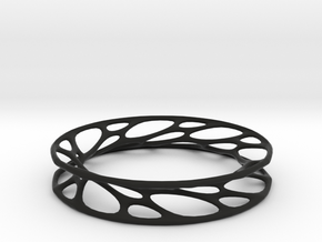 Convolution Bangle in Black Natural Versatile Plastic: Small